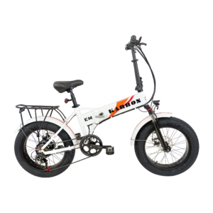 EMotorad Karbon white colour electric cycle